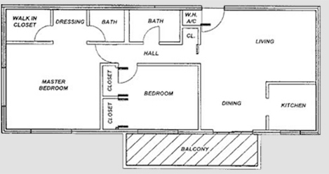 The corinthian plaza Servant quarters floor plans
